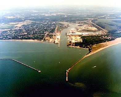 Fairport Harbor, sky view