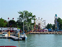 Fairport Harbor Mardi Gras: view from harbor