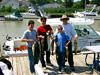 Megabytes fishing charters: folks with their catches