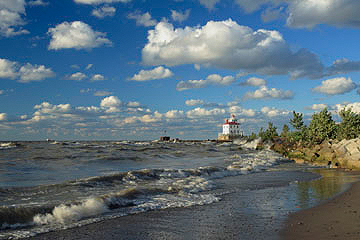 View Of Fairport Harbor Lighthouse From Headlands Beach